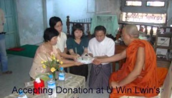 Ven. Dr. Nando Batha at Pathein Town